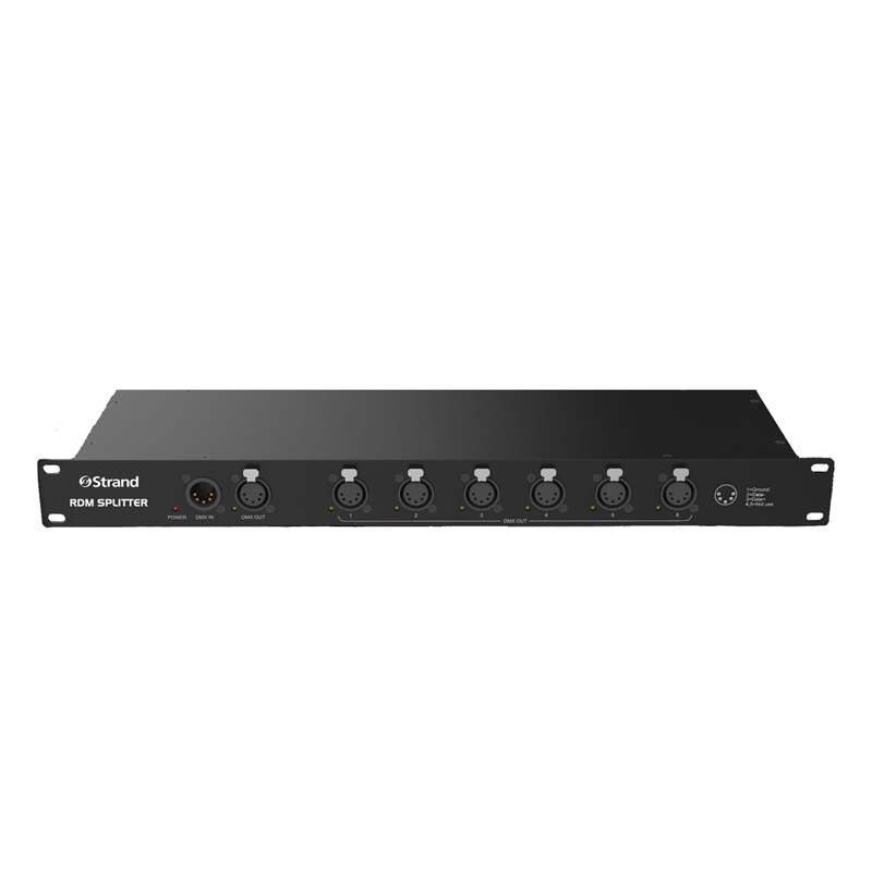 RDM SPLITTER - splitter is a 6-port, rack mounting RDM transparent