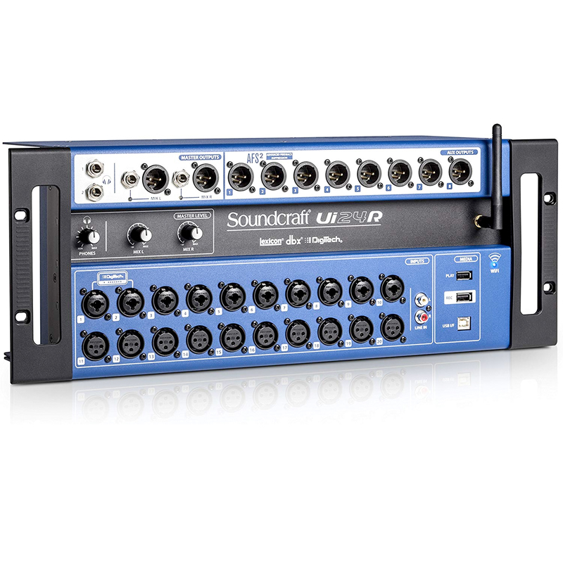 Ui24R - 24-channel Digital Mixer/USB Multi-Track Recorder with Wireless Control